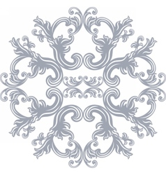 Damask round ornament vector