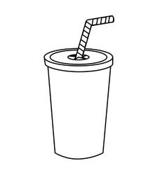 Drink in plastic cup vector image