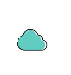 flat color cloudy icon vector image vector image