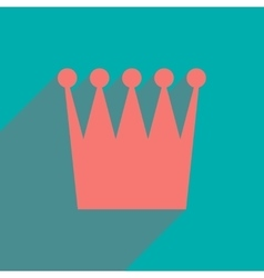 Flat icon with long shadow british crown vector