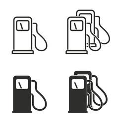 fuel icon set vector image
