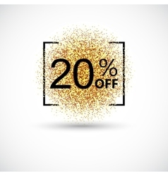 Gold sale 20 percent on background vector image vector image