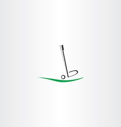 golf ball logo putter icon vector image vector image