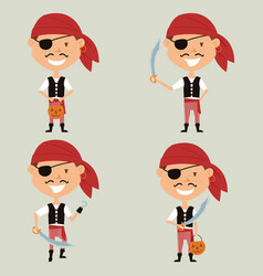 Halloween pirate boy vector