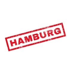 Hamburg rubber stamp vector