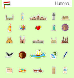 icons of hungary vector image