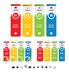 infographic set with symbol in black color set vector image vector image