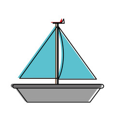 isolated sailboat design vector image