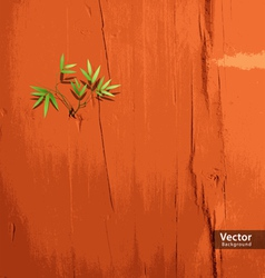 Leaf on orange wallpaper vector image vector image