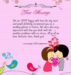 Letterhead valentines pink vector