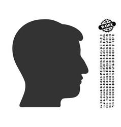 man head icon with professional bonus vector image
