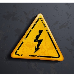 metal sign high voltage vector image