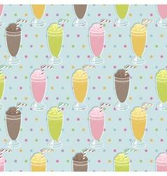 Milkshake pattern vector