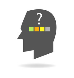 Mind icon of choices and decision making vector