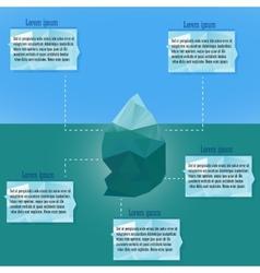 Polygonal iceberg infographics vector
