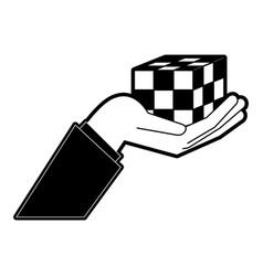 Rubik cube puzzle vector