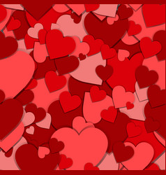 seamless pattern red paper hearts valentines day vector image vector image