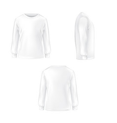 Set of of a white t-shirt with vector