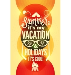 Summer time typographical retro poster vector