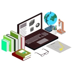 The concept of the workplace the student Science vector image vector image
