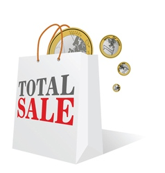 total sale with euro color vector image