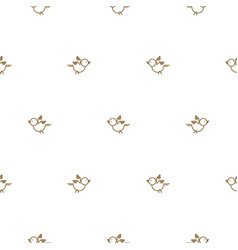 vintage thin line bird seamless pattern vector image