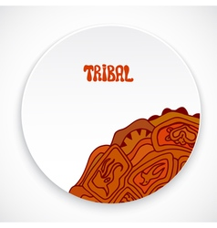 White plate with a print style tribal isolated vector image vector image