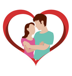 Woman and man design vector