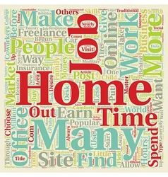 Work From Home Jobs text background wordcloud vector image vector image