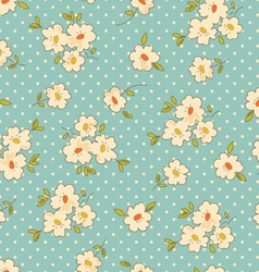 Vintage floral seamless background vector