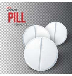 Set of photorealistic medicine pill vector