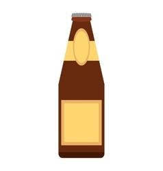 Alcohol bottle pouring liquid beverage dot line vector