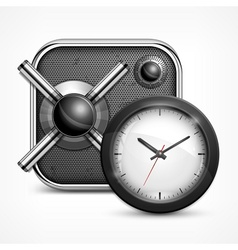 Safe icon  clock vector image