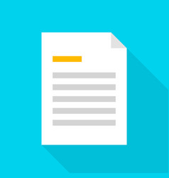 File document flat icon vector