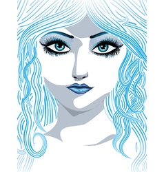 Blue winter girl2 vector