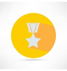 Golden medal isolated vector
