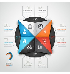 Infographics business triangle origami vector image