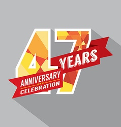 47th years anniversary celebration design vector
