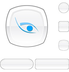 Eye white button vector