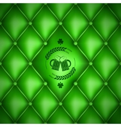Patrick day beer menu background vector