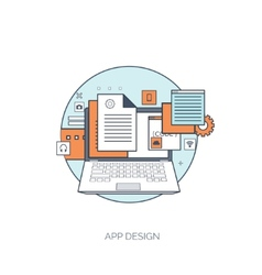Flat tablet icon communication concept social vector