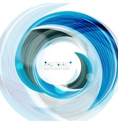 Blue swirl line abstract background vector