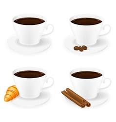 Porcelain cup with coffee 01 vector