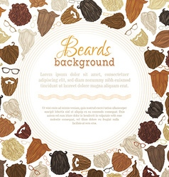 Background of hipster beards and eyeglasses vector