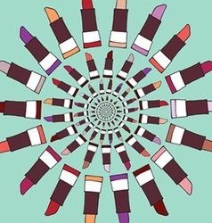 Colorful lipstick label vector