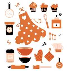 Baking icons vector