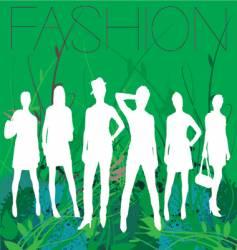spring fashion vector image