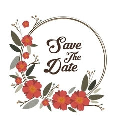 Save the date graphic design vector