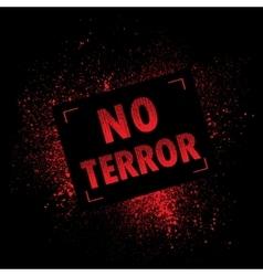 Grunge banner terror vector