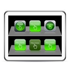 Www click green app icons vector
